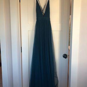 f433842d simply dresses Dresses - V-neck long prom dress with adjustable straps